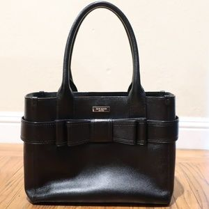 Kate Spade Bow Handbag Black Leather